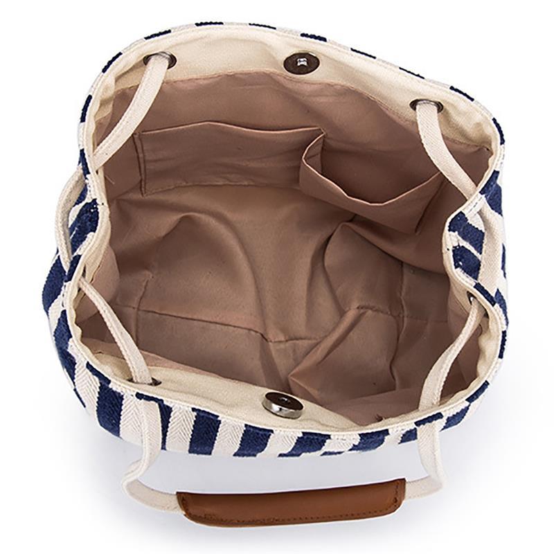 Casual listra padrão praia bolsa para senhoras
