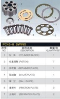 Repair kit for KOMATSU PC45R 8 swing motor spare parts cylinder block valve plate piston shoe accessories