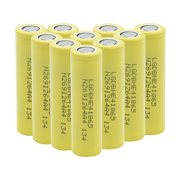 1/2/4/6/8/10 Pieces Rechargeable 3.7V Yellow Flat-top 18650 Batteries 3.7 V 2500mAh 18650 Lithium Li-ion Battery Replacement