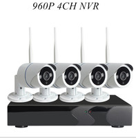AUTO PAIR WIRELESS SYSTEM 4 Channel 960P Wireless NVR Kit With 4x 960p Outdoor Waterproof Wireless