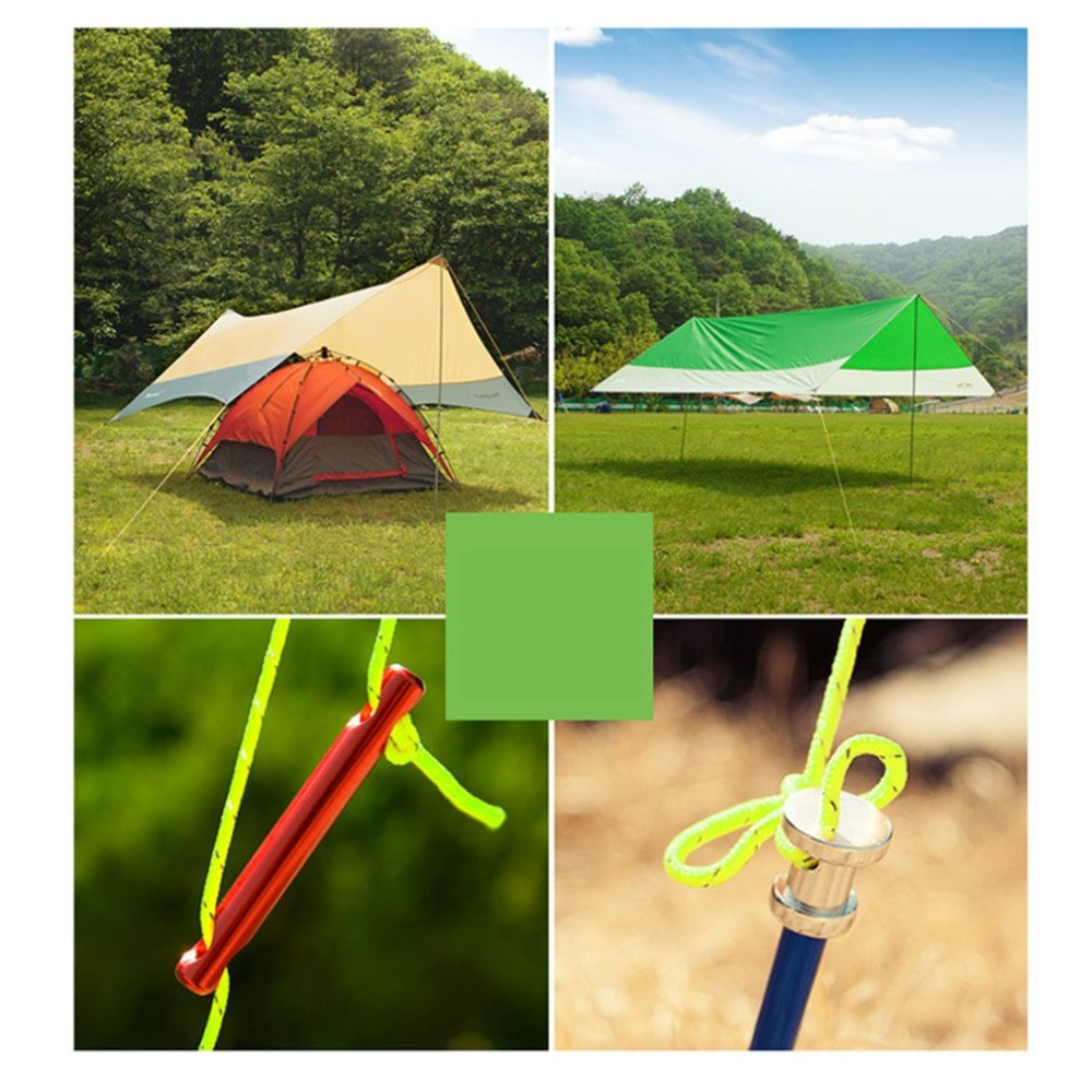 Multifunctional 20m Tent Rope Reflective Rope 2.5mm Thick Outdoor Camping Awning Hiking Safety Rescue Rope Tent Accessories