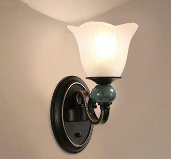 American bedroom bedside wall lamp simple modern living room wall hotel engineering corridor aisle wall lamp