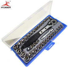 "Socket Set 38 Pcs 3/8"" inch/Metric Ratchet Driver Driver Socket Wrench Tool Set Kit Trox"