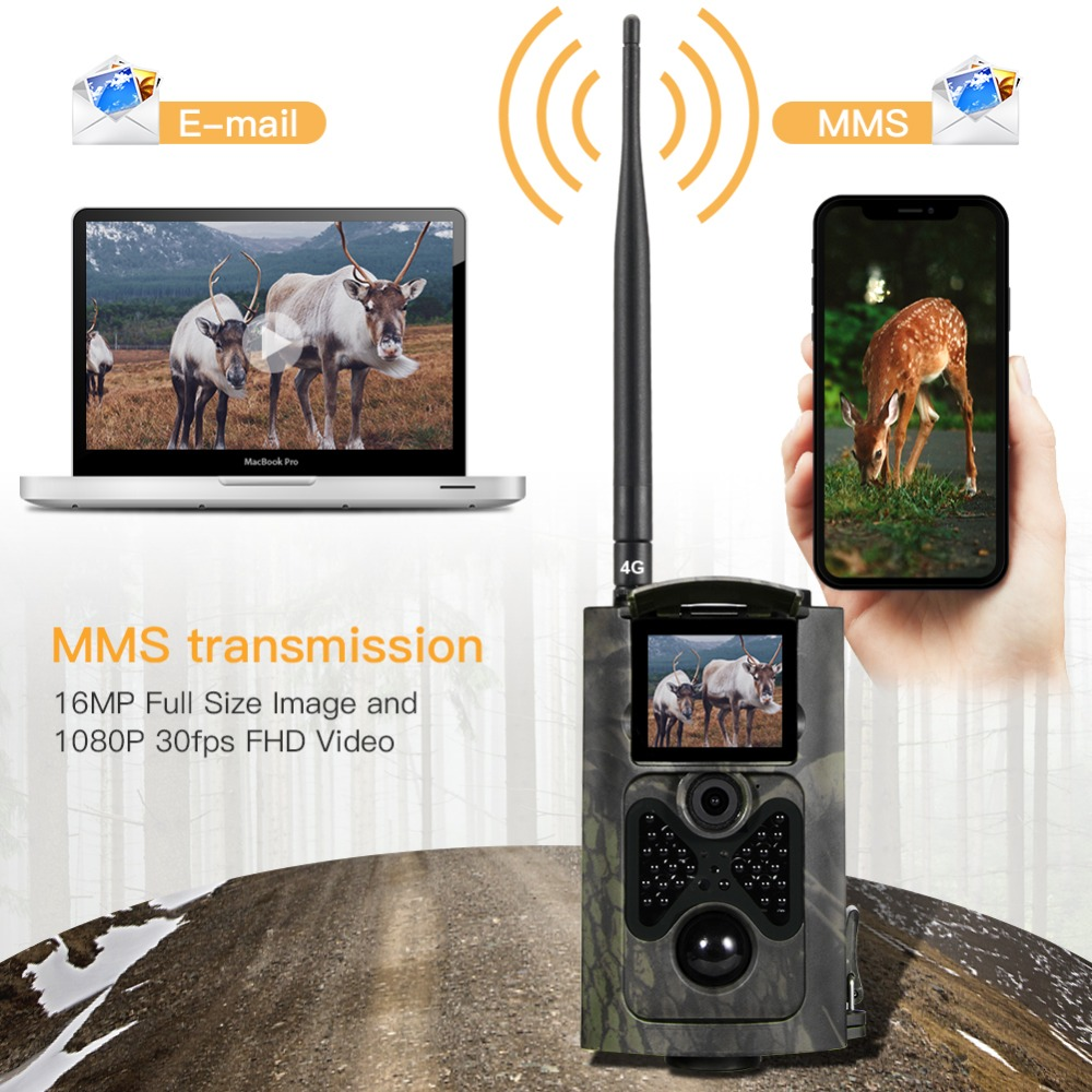 Image 2 - SUNTEKCAM HC 550LTE 4G Trail Camera Hunting 16MP Photo Video Tracking Game Cameras Email MMS SMS IR Camera Trap Hunting Camera-in Hunting Cameras from Sports & Entertainment