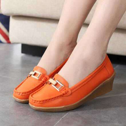 2017 Ballet Summer Cut Out Women Genuine Leather Shoes Woman Flexible Round Toe Nurse Casual Fashion Loafer  wolf who 2017 summer loafers cut out women genuine leather shoes slip on shoes for woman round toe nurse casual loafer moccasins