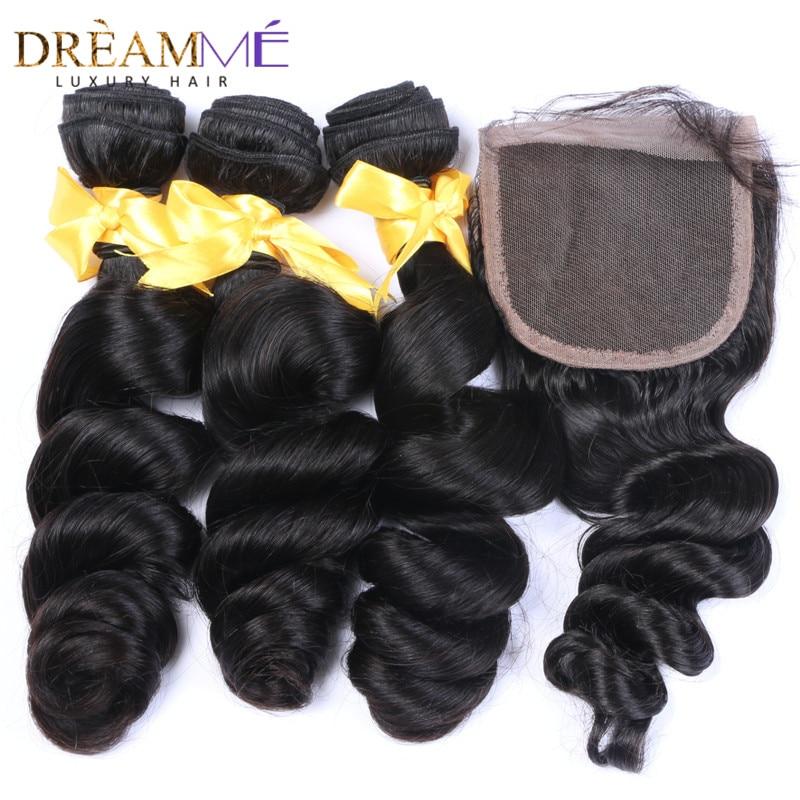 ბრაზილიური ფხვიერი ტალღა - ადამიანის თმის (შავი) - ფოტო 1
