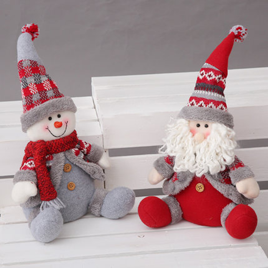 Santa Claus Christmas Doll Decoration Snowman Soft Toy Petit Cute Dolls For Girls Pusheen Zabawki Christmas Decoration KC5SD05 giant christmas inflatable 5m high inflatable christmas santa claus cartoon for outdoor party events festival toy