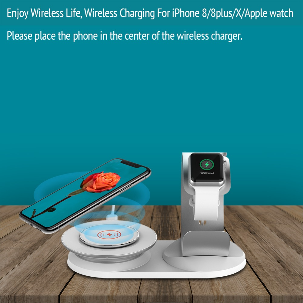 New 2 in 1 Wireless Charging stand base for iPhone x support Charger ...