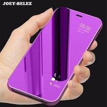 Флип-чехол для samsung J4, J6, J8,, кожаный прозрачный зеркальный чехол с подставкой для Galaxy A9, Star lite, A5, A6, A7, A8 Plus, J7, Duo, Note 9