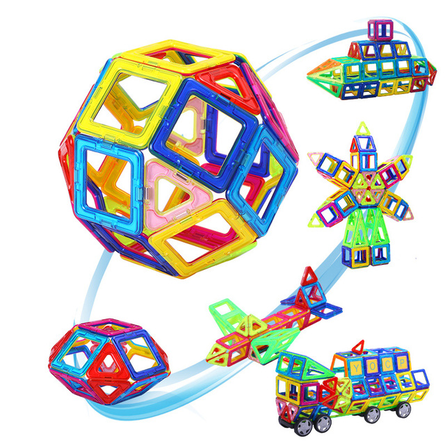 164pcs-64pcs Mini Magnetic Designer Construction Set Model & Building Toy Plastic Magnetic Blocks Educational Toys For Kids Gift