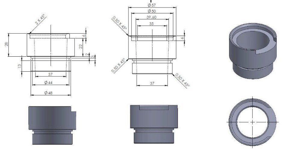 CNC machinery parts made according to customers drawings CNC machinery parts made according to customers drawings