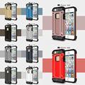 Nueva llegada para apple iphone 5s se 6 6 s 6 más shell ultra thin pc y tpu de goma resistente a prueba de golpes híbrido case cubierta