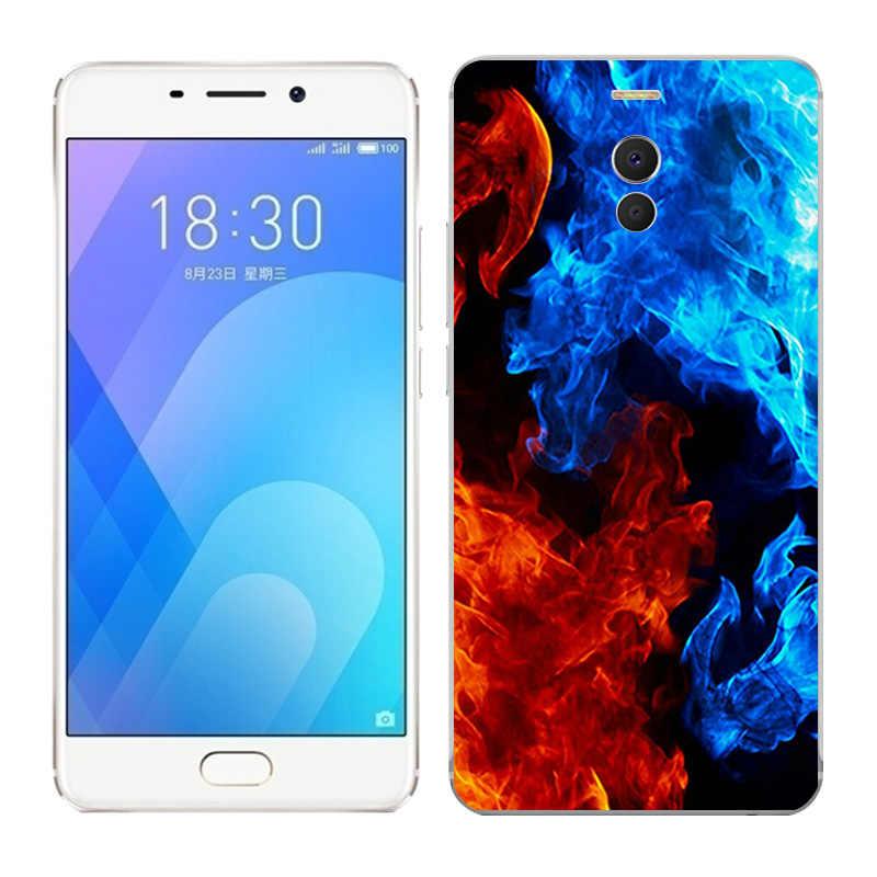 Fall Für Meizu M6 Hinweis/Blau Charme Note 6 Note6 Weiche TPU Silikon Telefon Abdeckung für Meizu M6 Hinweis blaze Gemalt Fundas Tasche