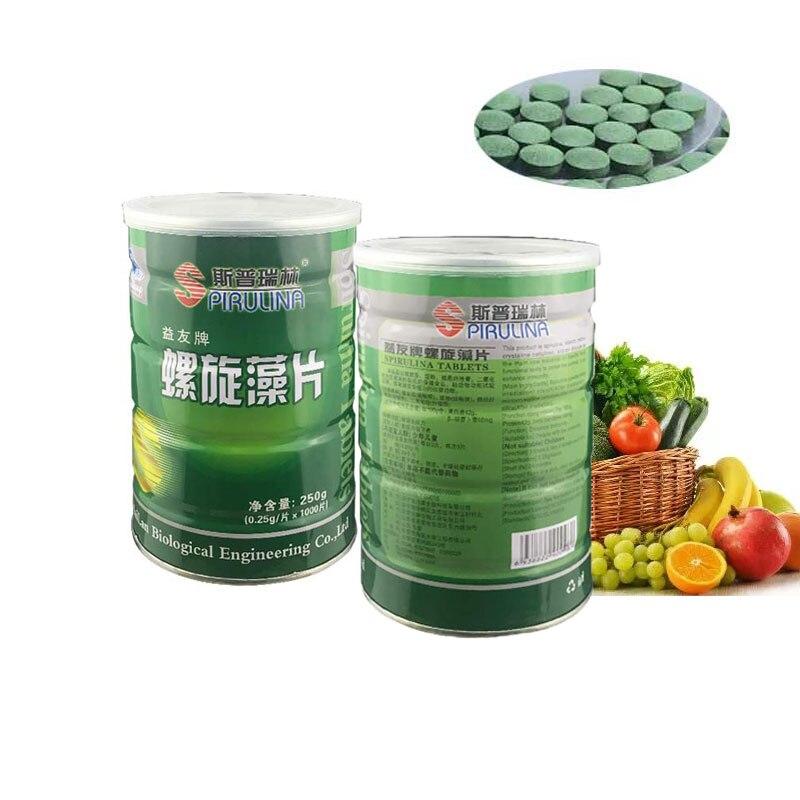 100%  Natural SpirulinaEnhance-Immune Organic Spirulina tablets Health Food Anti-fatigue Anti-radiation Loss Weight 2000pcs