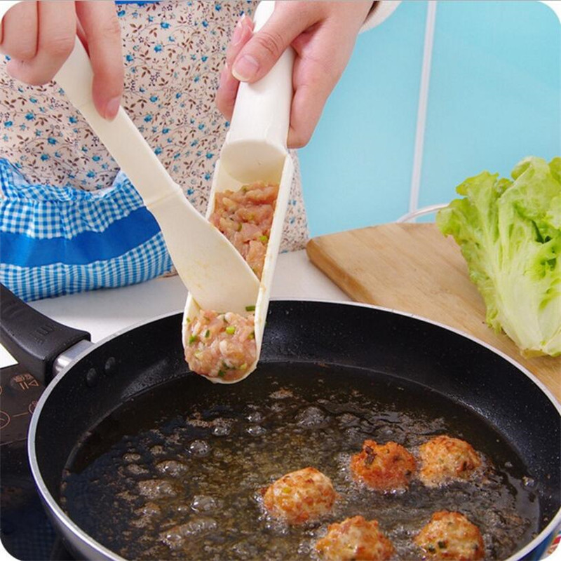 1Set DIY <font><b>Meatball</b></font> <font><b>Maker</b></font>, Useful Baller for Pattie Fish Beaf Meat Burger Sets Home Kitchen Cooking Tools Gadgets Accessories image