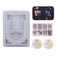 Pandahall Elite Jewelry Making Tool Sets,Plastic Bead Design Board, Elastic Fibre Wire,Crystal String Wire,DIY Jewelry Tool Kit