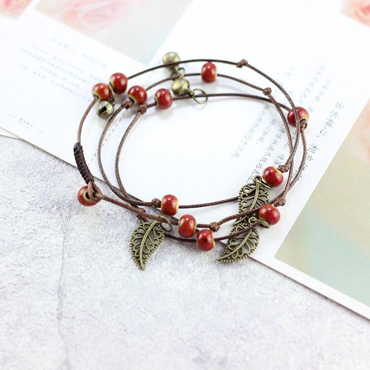 1 Stücke Neue Mode Schmuck Armbänder Für Mädchen Böhmen Keramik Charme Armbänder Für Frauen