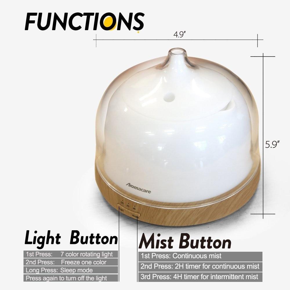 Aromacare Ultrasonic Diffuser 200ml Kayu Bijian Pangkalan Air Minyak - Perkakas rumah - Foto 6