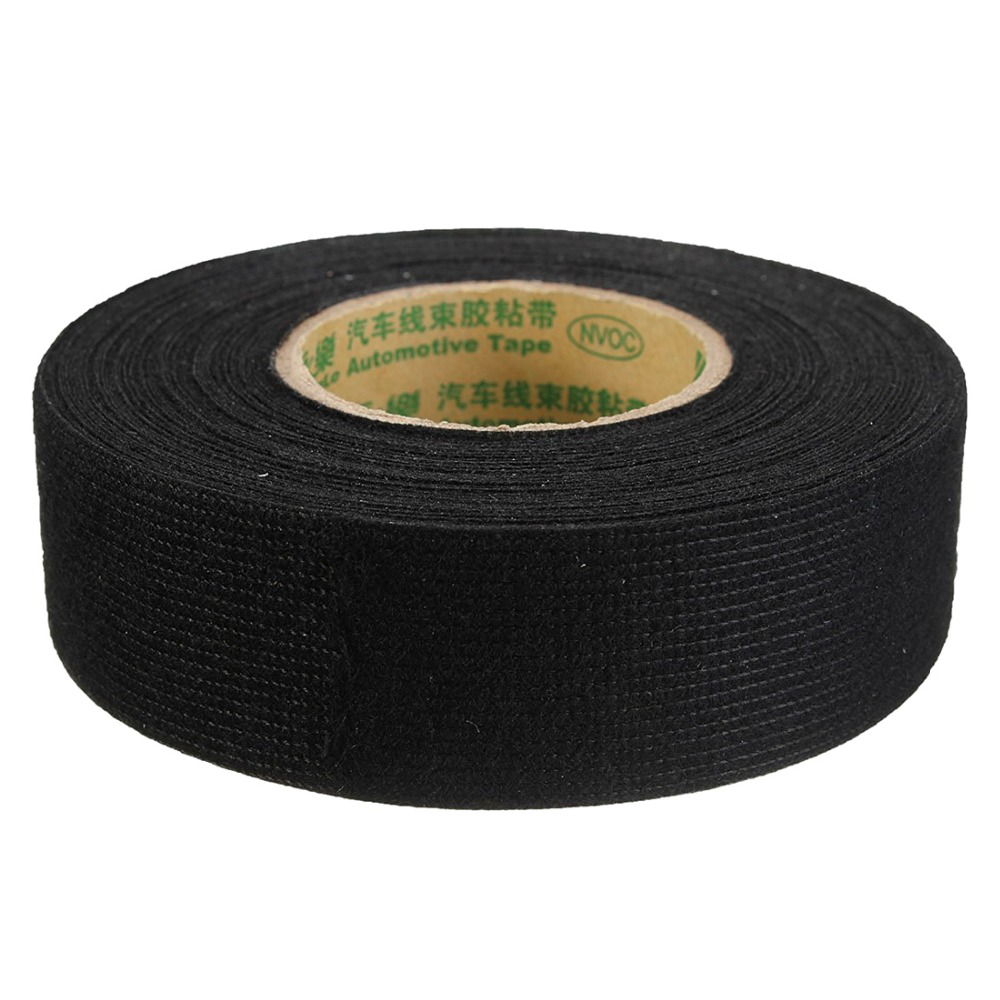 Insulating Fabric Cloth Tape 15m X 25mm Adhesive Wiring Harness Automotive Loom Supplies Glue High Temperature Car Tapes Cable Looms Christmas Gift Shop