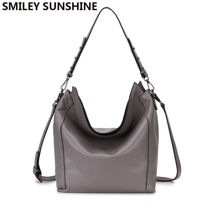 цены 100% real genuine leather ladies bag casual handbag big hobo shoulder bag for women 2018 fashion large crossbody bags sac a main