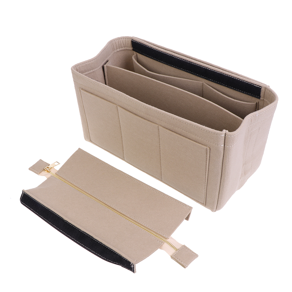 High Quality Multifunction Handbag Felt Fabric Bag Purse Insert Storage Pouch Case Structured Organizer Bags