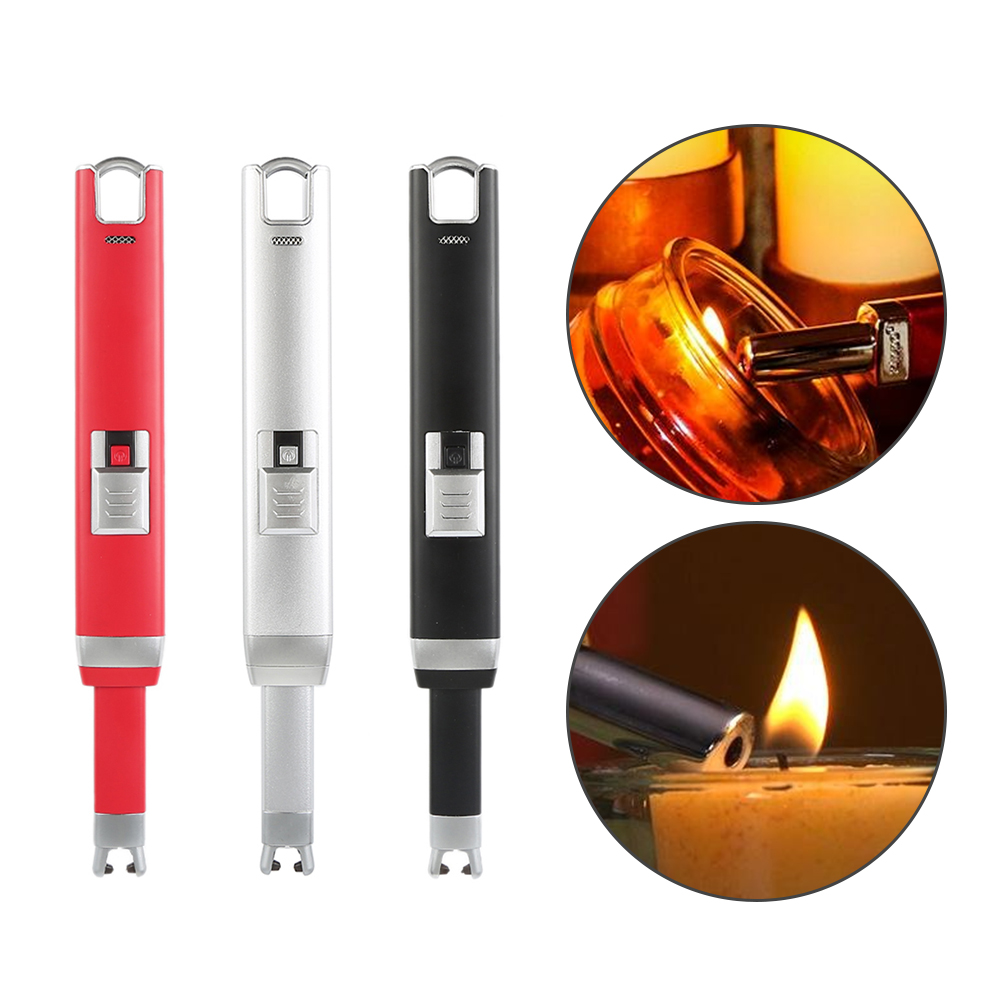 Новые электронные импульсного зажигание дуги usb электронные зажигалки барбекю Свеча аккумуляторная батарея Непламено портативный ведьмы …