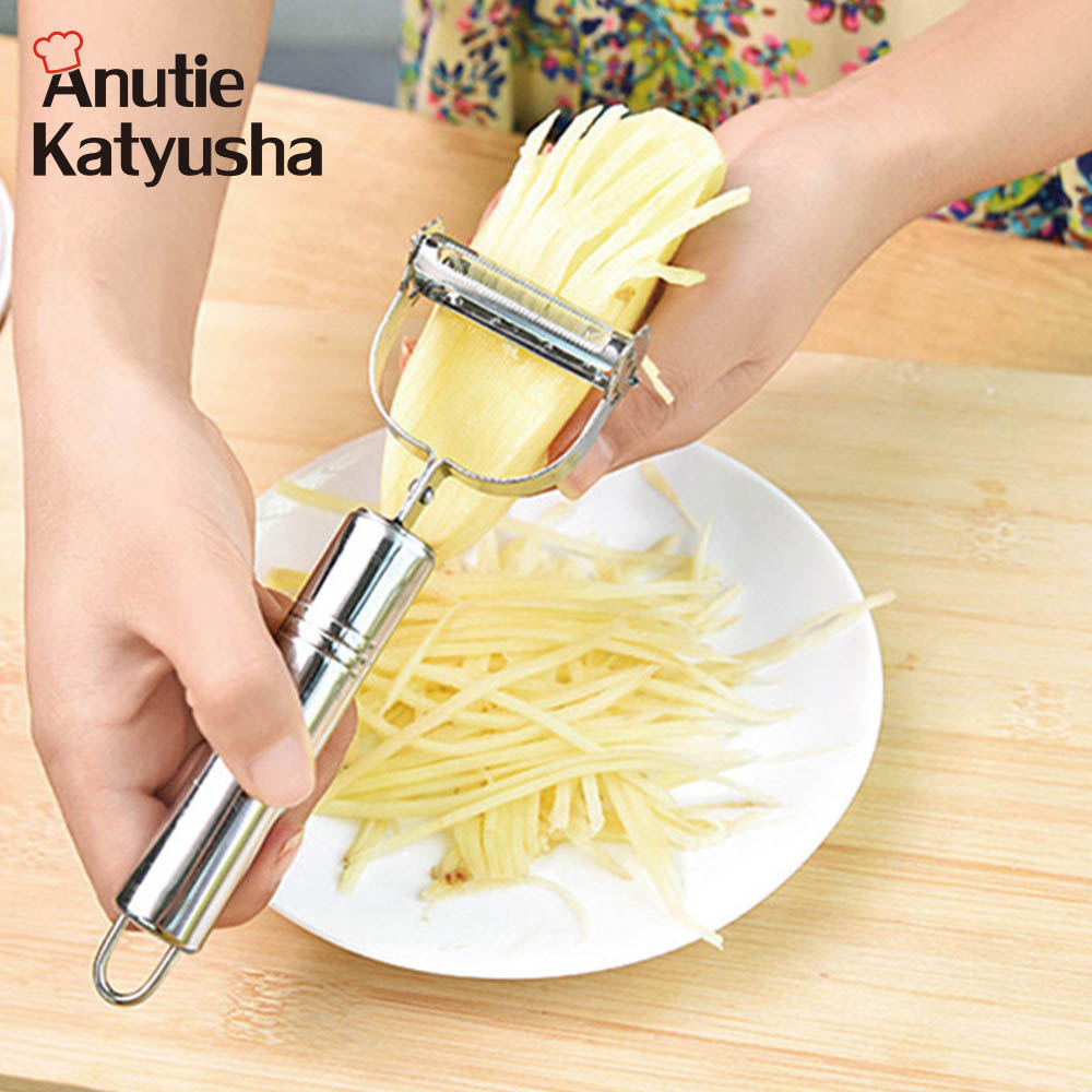 Multifunctional Stainless Steel Carrot Potato Fruit Peeler Durable Razor Sharp Cutter Shredder Slicer Vegetable Julienne Peeler slipper