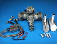New DLE Engine DLE40 40CC Twin Gasoline w/ Electronic Ignition For Model Airplane
