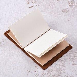 Image 5 - 50 peças/lote passaporte 135x105mm caderno de couro genuíno feito à mão do vintage diário diário sketchbook planejador