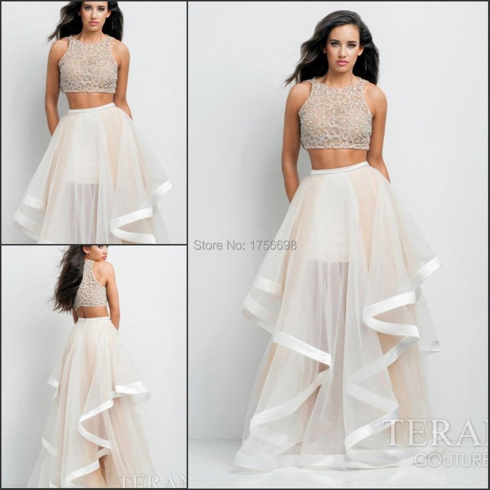 2015 Grace 2 Piece Prom Dresses Cheap Special Occasion