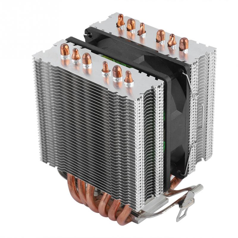 Honey Computer Cpu Fans Cooler Heat Sink 6 Heatpipe For Intel Lag1156/1155/1150/775 U-shaped Heat Pipe For Cpu Heat Sink Providing Amenities For The People; Making Life Easier For The Population