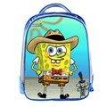 Рюкзак «Губка Боб» для мальчиков и девочек с мультяшным принтом  школьные сумки для девочек и мальчиков  книжный мешок  подарок для детей  бе...