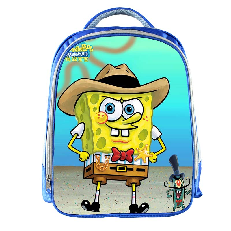 SpongeBob Backpack Boys Girls Cartoon Printing School Bags For Girls Boys Bookbag Kids Gift Customized Name Free