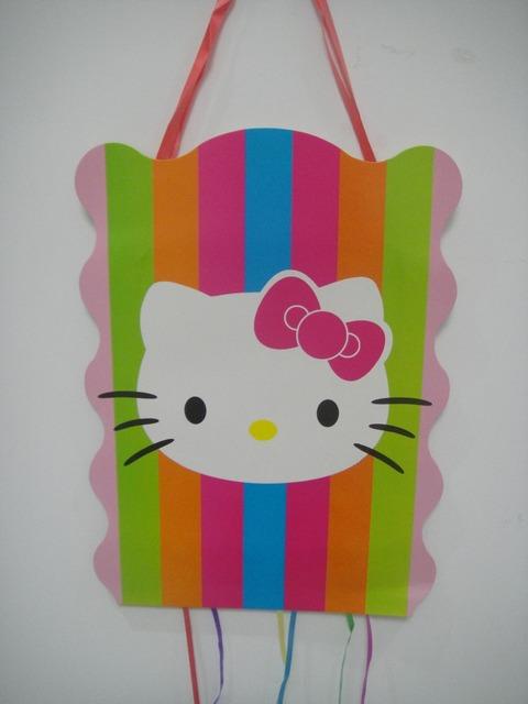 Pinata with Kitty Pattern