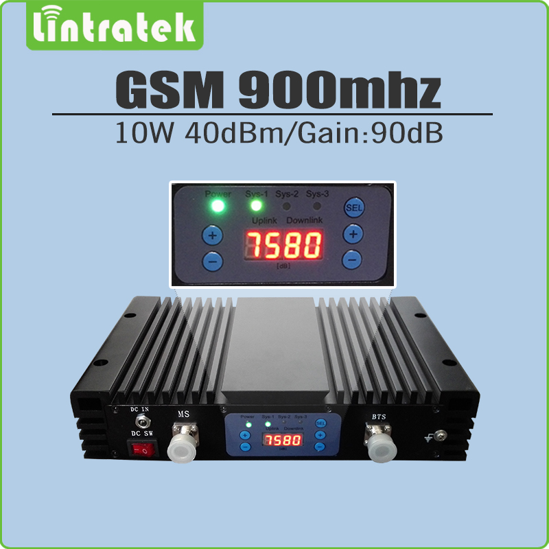10W Big Power 40dBm Gain 90dB 2G GSM 900mhz Signal Repeater GSM 900 Mobile Signal Booster Amplifier Lcd Display And AGC/MGC