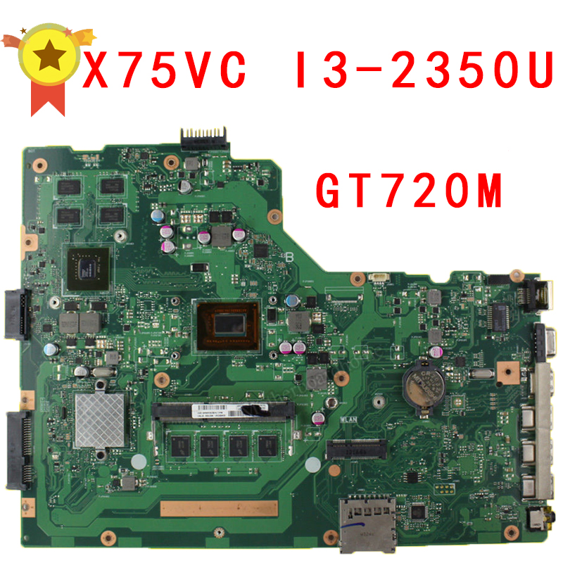 Asus X75vc Laptop Motherboard With I3 2350m Cpu 4gb