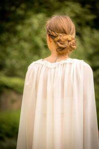 Image 4 - เจ้าสาวอุปกรณ์เสริม Cloaks หมวกผู้หญิงชีฟองผ้าคลุมไหล่ 200 ซม.