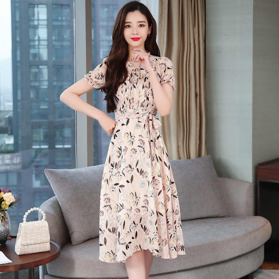 Летнее платье в Корейском стиле размера плюс, Розовый Цвет Бохо сексуальное платье 2019 Винтаж из шифона с цветочным рисунком пляжное платье миди Открытое платье без рукавов элегантные Для женщин Bodycon Вечерние Vestido
