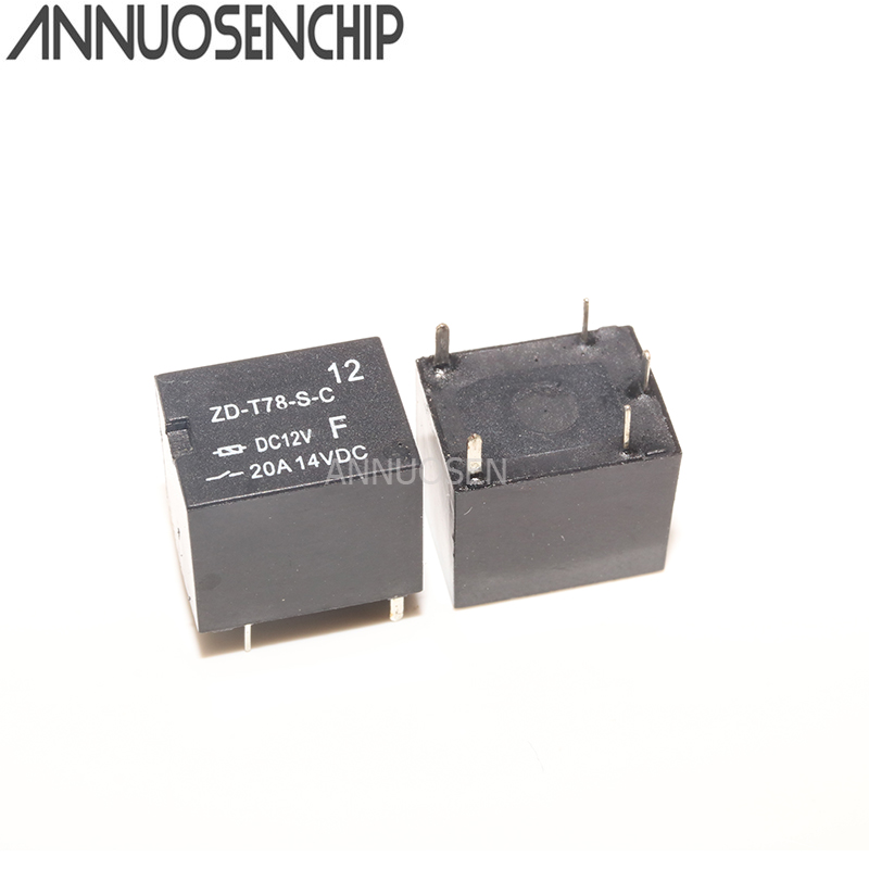 Original <font><b>relay</b></font> ZD-<font><b>T78</b></font>-S-C-DC12V a set of conversion 5 feet 20A SRA-12VDC-CL image