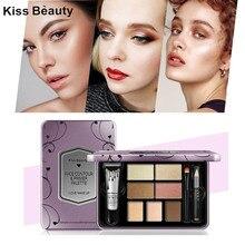 Основа Под тенями палитра теней для век профессиональные макияж для женщин тени для век Косметика Блеск тени для век матовые