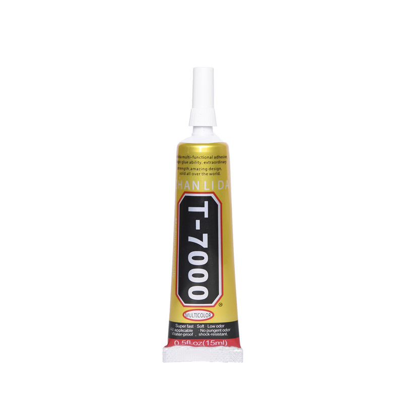 15ML Epoxy Resin T7000 Black Glue Adhesive T-7000 Glass Ceramics Stone Fabric Textile Leather Plastic Touch Screen Paper Rubber