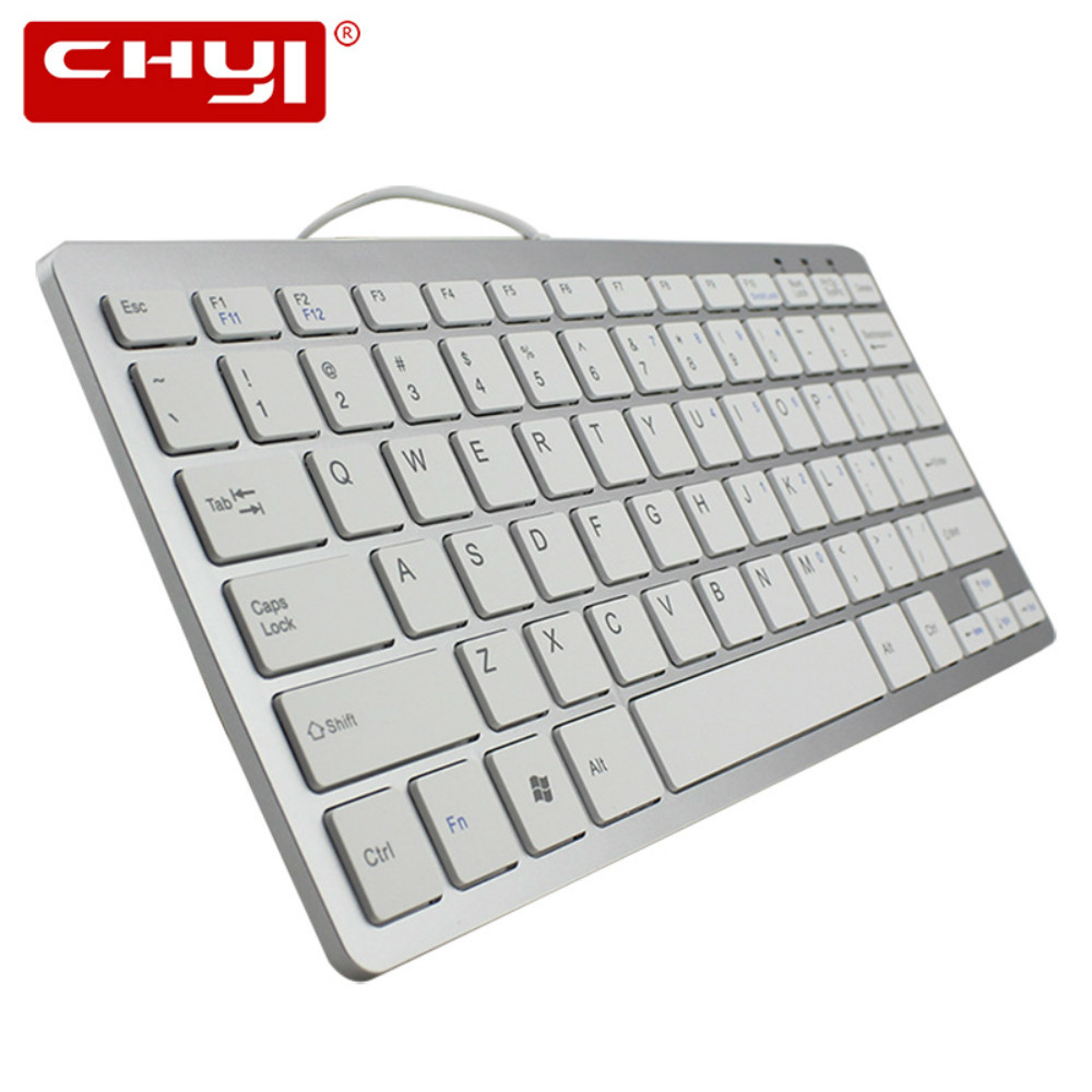 chyi super thin wired keyboard mini keybaord ergonomic aluminum keypad for desktop pc android. Black Bedroom Furniture Sets. Home Design Ideas