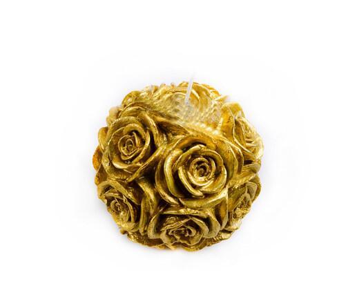 Moule en Silicone 3D grand rose boule bougie moules gel de silice fleur chocolat moule à la main savon moule résine argile arôme pierre moules