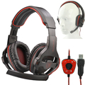 Game HeadphoneS Stereo Surrounded Over-Ear Gaming Headset Headband Earphone with Light for Computer PC Gamer