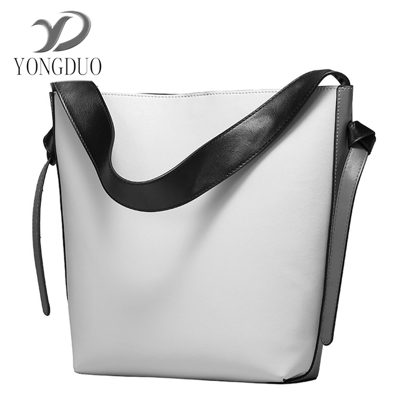 2017 New 100% Genuine Leather Bag Large Women Handbags Famous Brand Vintage Messenger Bags Big Ladies Shoulder Bag