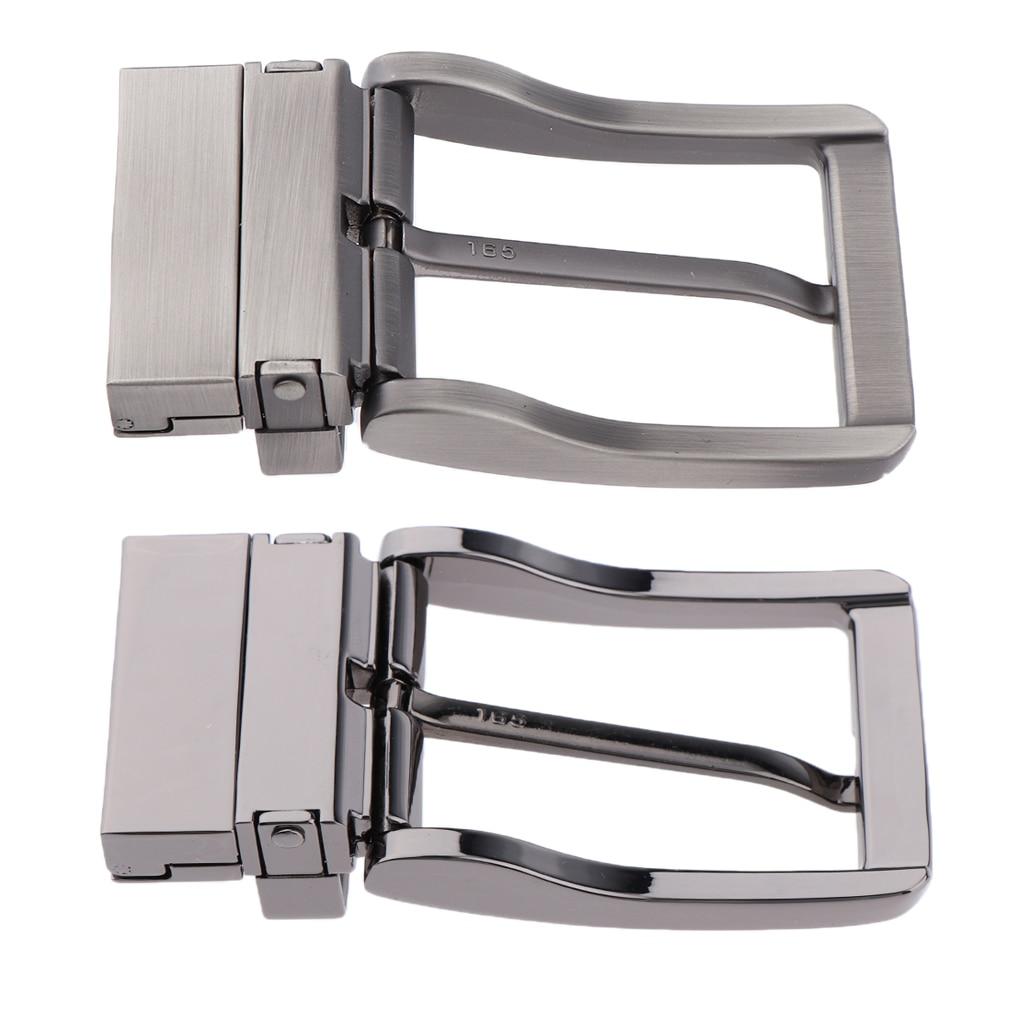 Men Metal Reversible Belt Buckle Replacement Antique Rectangular Pin Buckle