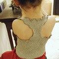Корейский Малыш Девушки Оборками Топы Принцесса Дети Одежда Лето Симпатичные Одежда