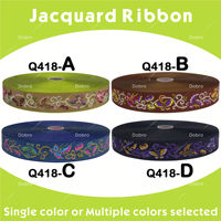 New Arrival 10 40 Yards 7 8 22mm Jacquard Ribbon Flight Of The Butterfly DIY Materials