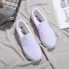 Big Plus Size klasyki czarne trenerzy obuwie damskie miłośnicy wulkanizacji płócienne buty damskie trampki Zapatos Tenis Feminino tanie tanio Dla dorosłych HQFZO Niska (1 cm-3 cm) Szycia Płótno Slip-on Wiosna jesień Fabric Pasuje prawda na wymiar weź swój normalny rozmiar
