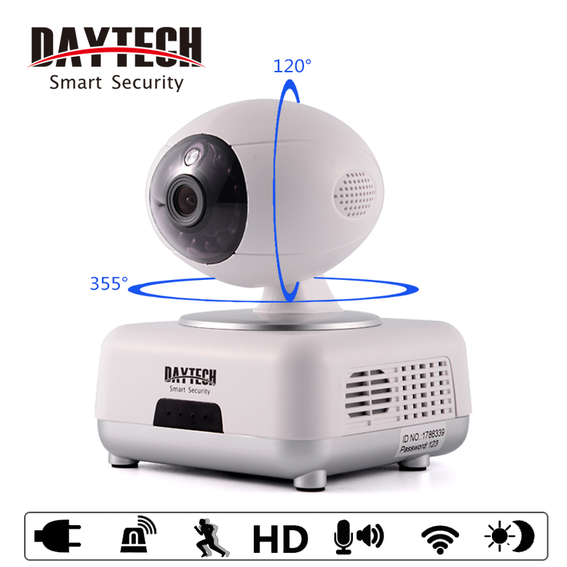 Daytech WiFi IP Camera Home Security Camera 720P Night Vision Infrared Two Way Audio Baby Monitor Wireless Network DT-C8816 new wifi ip camera home security camera wireless 720p night vision infrared two way audio baby camera monitor video webcam